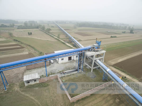 Tongli Cement Plant long distance curved belt conveyor